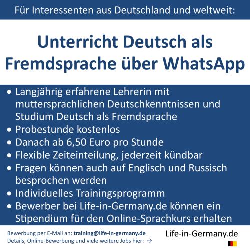 Sprachunterricht Deutsch lernen Deutschland Sprache